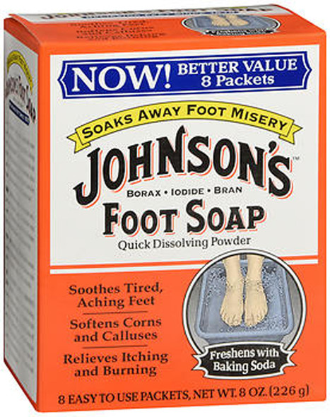 Johnson's Foot Soap Powder Packets - 8 Packets