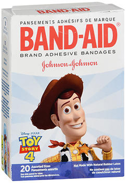 Band-Aid Adhesive Bandages Assorted Sizes Toy Story 4 - 20 ct