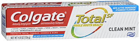 Colgate Total SF Anticavity, Antigingivitis and Antisensitivity Toothpaste Clean Mint - 4.8 oz