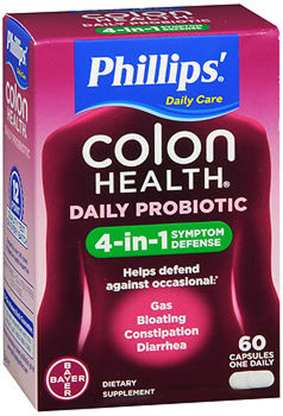 Phillips' Colon Health Daily Probiotic Capsules - 60 ct