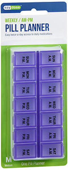 Ezy Dose Weekly/AM-PM Pill Planner  - 1 ea. #67375