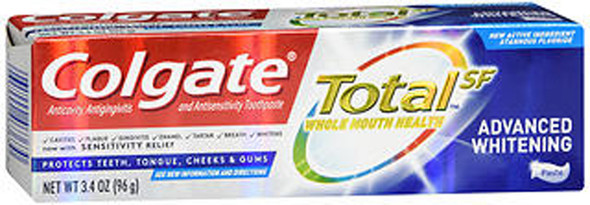 Colgate Total SF Advanced Whitening Toothpaste - 3.4 oz