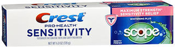 Crest Pro-Health Sensitivity Toothpaste Whitening Plus Scope - 6 oz