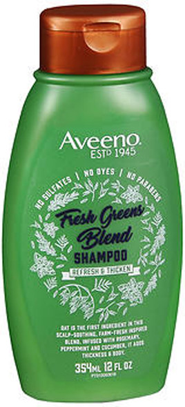 Aveeno Scalp Soothing Fresh Greens Blend Shampoo for Volume, Thickness & Refresh - 12 oz