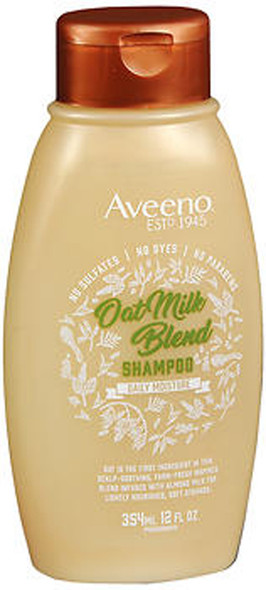 Aveeno Scalp Soothing Oat Milk Blend Shampoo for Daily Moisture and Light Nourishment - 12 oz