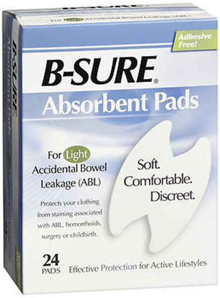 B-Sure Absorbent Pads - 24 ct