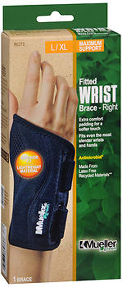 Mueller Green Fitted Wrist Brace-Right L/XL 86273 - 1 Each