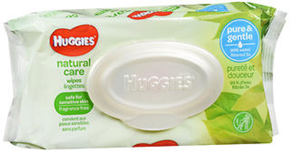 Huggies Natural Care Wipes Fragrance Free - 8 packs of 56 wipes
