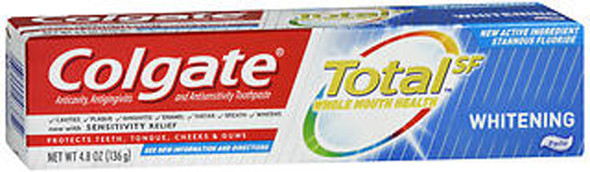 Colgate Total SF Whitening Anticavity, Antigingivitis and Antisensitivity Toothpaste - 4.8 oz