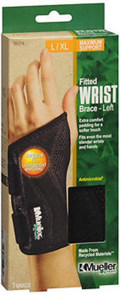 Mueller Green Fitted Wrist Brace,XL Left Hand 86274 - 1 Each