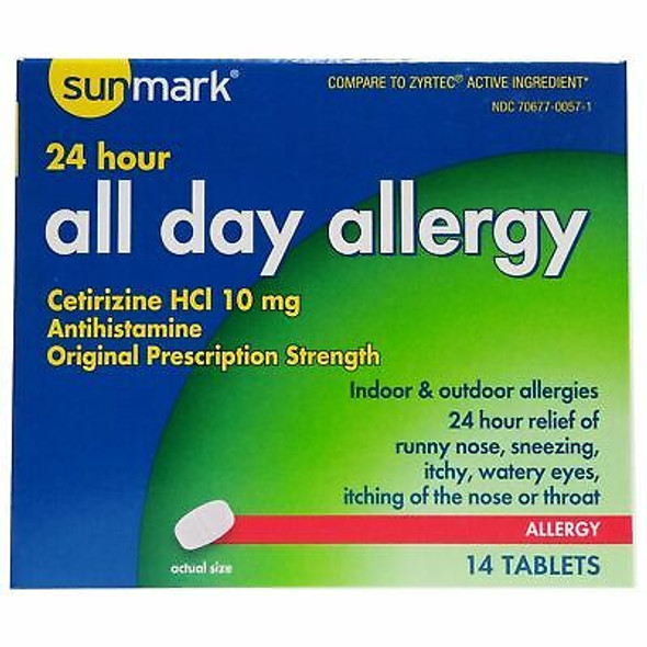 Sunmark All Day Allergy Tablets - 14 ct