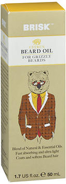 Brisk Grooming Beard Oil Citrus - 1.7 oz