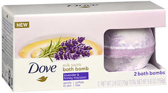 Dove Bath Bomb Milk Swirls Lavender & Honey Macaroon - 5.6 Oz