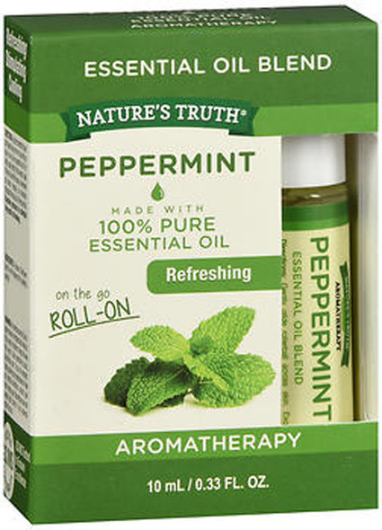Nature's Truth Aromatherapy Peppermint Essential Oil Roll-On - .33 oz