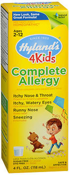 Hyland's 4 Kids Complete Allergy Liquid - 4 oz