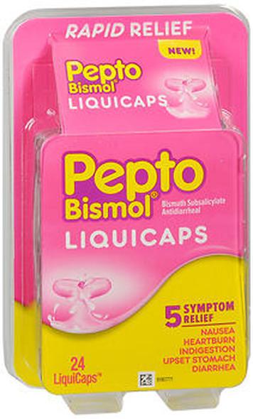 Pepto Diarrhea Antidiarrheal Liquicaps - 24 ct