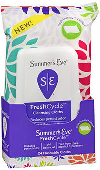 Summer's Eve Fresh Cycle Cleansing Cloths - 24 ct