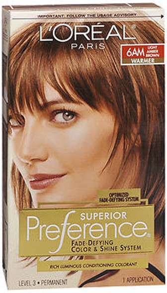 L'Oreal Superior Preference - 6AM Light Amber Brown (Warmer)