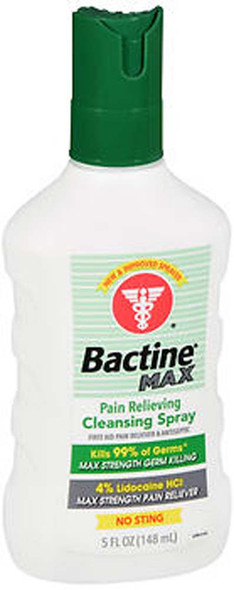 Bactine MAX First Aid Pain Relieving Spray with Lidocaine - 5 oz