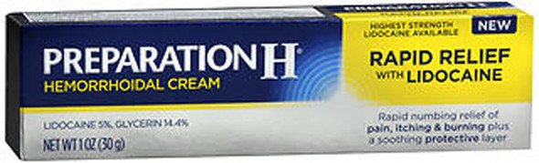 Preparation H Hemorrhoidal Cream Rapid Relief - 1 oz