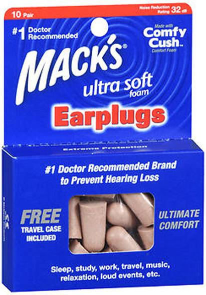 Mack's Ultra Soft Foam Earplugs - 10 Pair