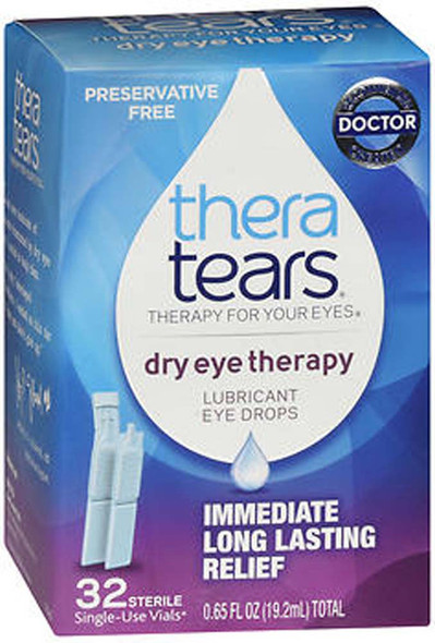 TheraTears Dry Eye Therapy Lubricant Eye Drops - 32, 0.65 oz Single-Use Vials