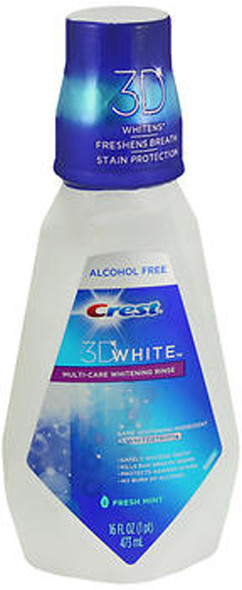 Crest 3D White Multi-Care Whitening Rinse Fresh Mint - 16 oz