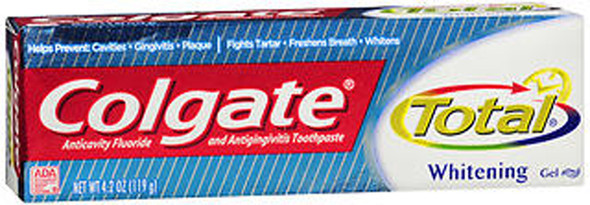 Colgate Total Whitening Mint Toothpaste Gel - 3.3 oz