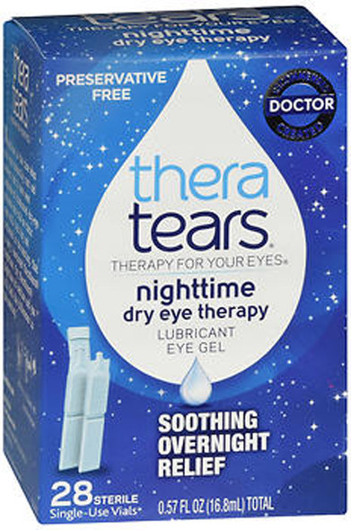 TheraTears Nighttime Dry Eye Therapy Lubricant Eye Gel - 28, 0.57 oz Single-Use Vials