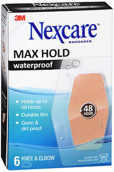 Nexcare Max Hold Waterproof Bandages Knee & Elbow - 8 ct