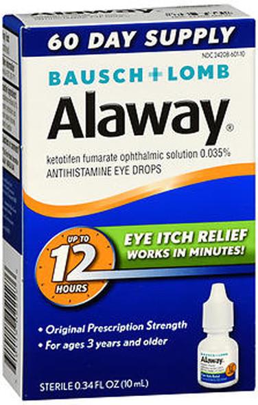 Bausch + Lomb Alaway Antihistamine Eye Drops - 0.34 fl oz