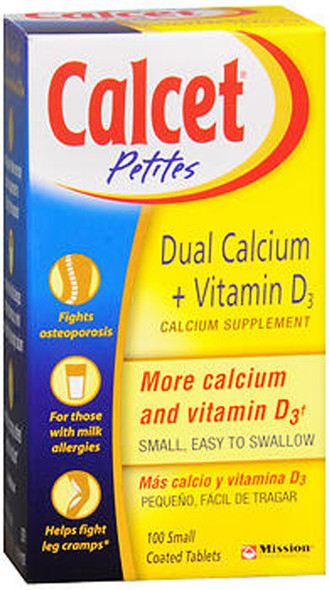 Calcet Petites Dual Calcium + Vitamin D3 - 100 Tablets