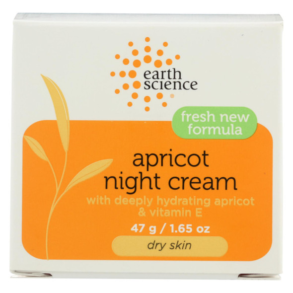 Earth Science Apricot Night Cream - 1.65 Oz