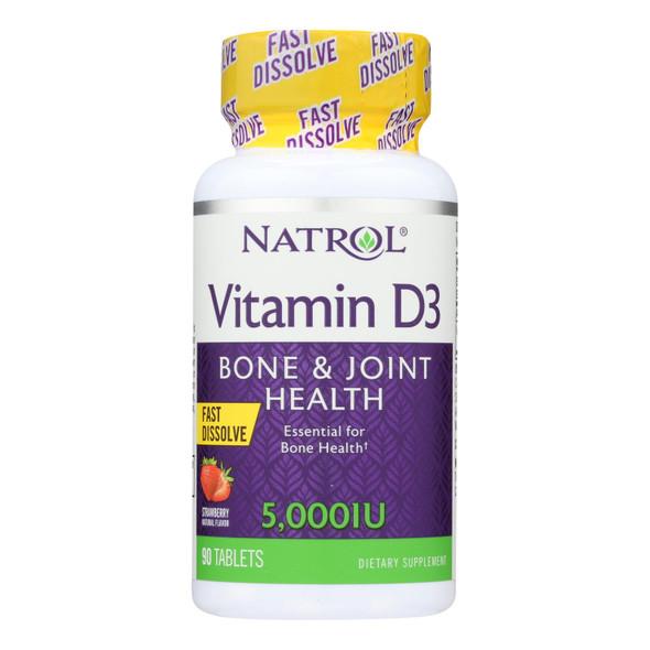 Natrol Vitamin D3 - 5000 Iu - Fast Dissolve - 90 Tablets