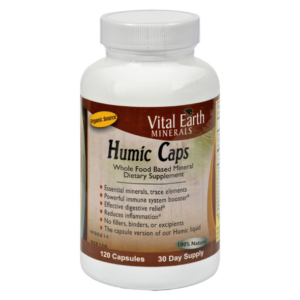 Vital Earth Minerals Humic Caps - 120 Capsules