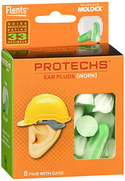 Flents Protechs Ear Plugs Work - 8 pairs