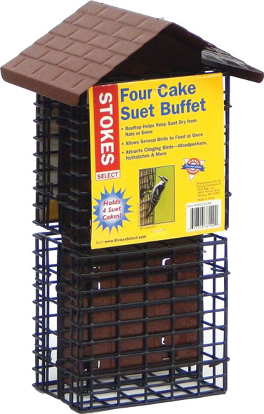 Classic Brands Llc-Wb-Stokes Four Cake Suet Buffet- Brown