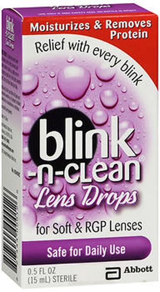 Blink-N-Clean Lens Drops For Soft & RGP Lenses - 0.5 oz