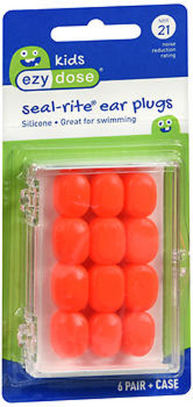 Flents Seal-Rite Kid's Silicone Ear Plugs - 6 pair