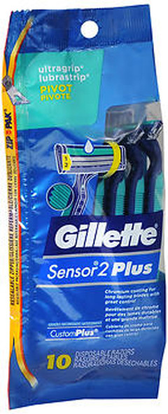 Gillette Sensor 2 Plus Disposable Razors - 10 ct