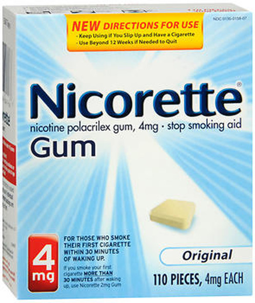 Nicorette Stop Smoking Aid 4 mg Original Gum - 110 ct