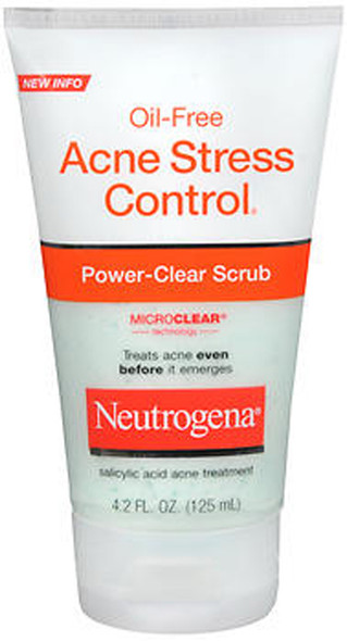 Neutrogena Oil-Free Acne Stress Control, Power-Clear Scrub -  4.2 oz