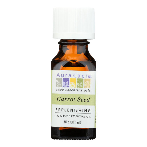 Aura Cacia - Pure Essential Oil Carrot Seed - 0.5 Fl Oz