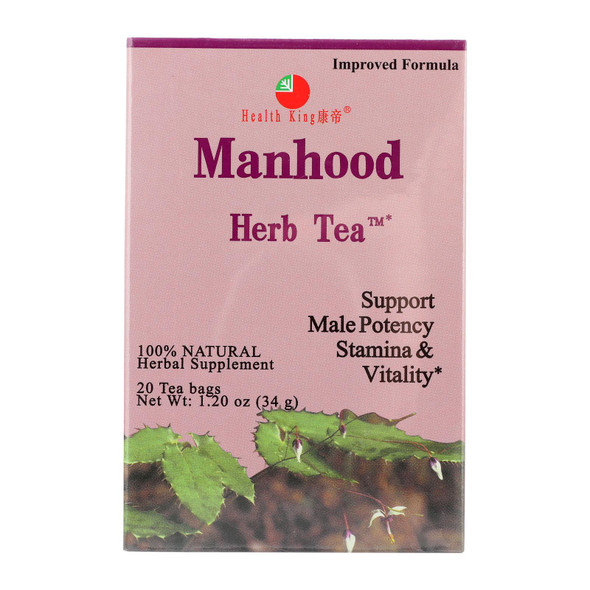 Health King Manhood Herb Tea - 20 Tea Bags