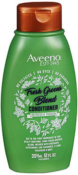 Aveeno Scalp Soothing Fresh Greens Blend 2-in-1 Shampoo + Conditioner for Volume, Thickness & Refresh  - 12 oz