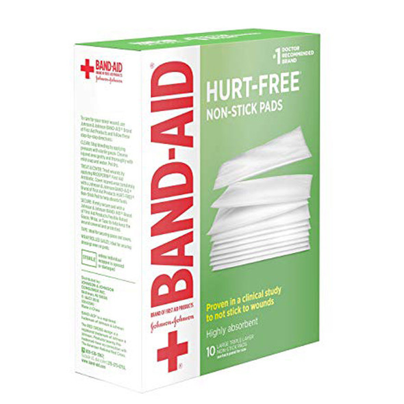 Johnson & Johnson Red Cross First Aid Triple Layer Non-Stick Pads 3 X 4 - 10 ct