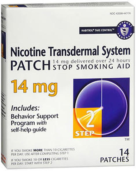 Habitrol Nicotine Transdermal System Step 2, 14 mg Stop Smoking Aid - 14 each