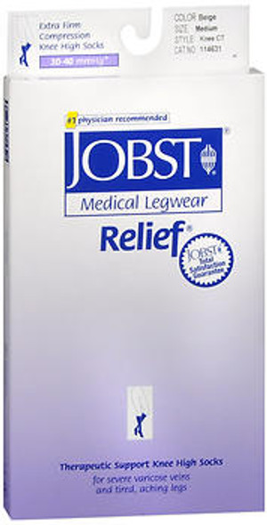 Jobst Knee-High Relief Hose 30-40 mmHg - Beige - Medium
