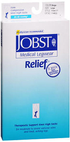 Jobst Knee-High Relief Hose - Beige - Large