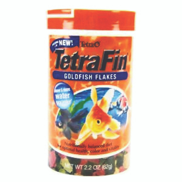 TetraFin Balanced Diet Goldfish Flakes Fish Food - 2.2 oz